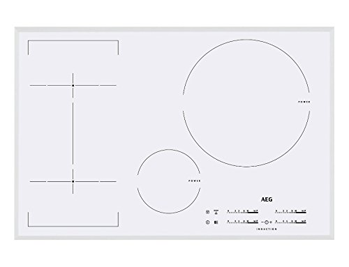 AEG – Table de cuisson à induction hKL 85246 FW Finition blanc de 80 cm