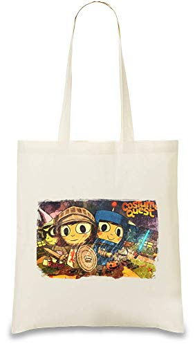 Kostüm Quest Team - Costume Quest Team Custom Printed Tote Bag| 100% Soft Cotton| Natural Color & Eco-Friendly| Unique, Re-Usable & Stylish Handbag For Every Day Use| Custom Shoulder Bags By Freestyle