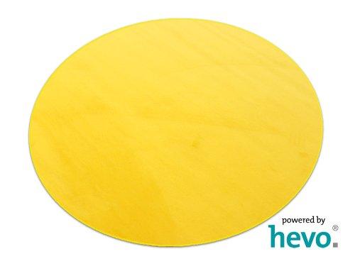 HEVO Romeo gelb Teppich | Kinderteppich | Spielteppich 200 cm Ø Rund