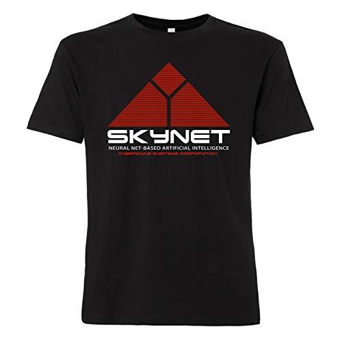 1984 Schwarzen T-shirt (ShirtWorld - Skynet - Herren T-Shirt Schwarz 2XL)