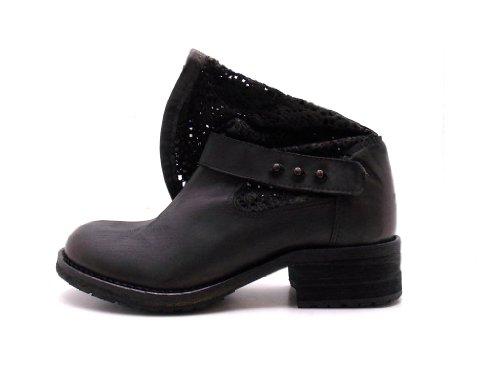 Free People , Boots biker femme Noir - Noir