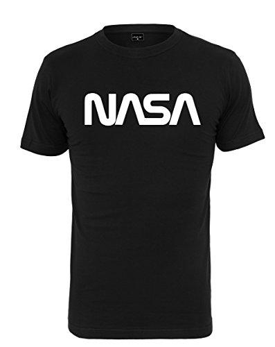 Mister Tee Herren NASA Worm Tee - Männer Streetwear T-Shirt, Farbe Schwarz, Größe M