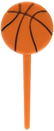 Basketball Cupcake Picks - 36 pcs by Amscan