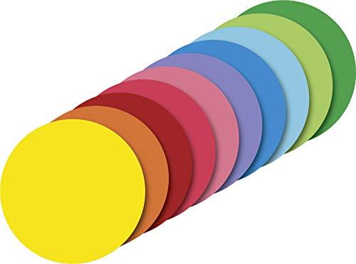 Heyda 204875615 Heyda 204875615 Faltblätter rund, uni Ø 15 cm , 10 Farben sortiert 10 Farben sortiert Runde Blätter