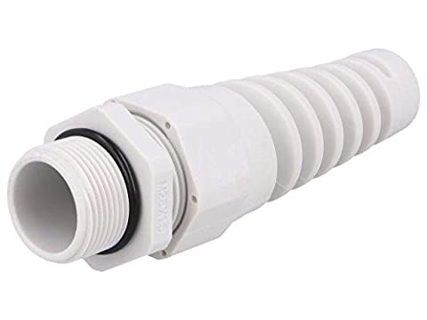 BM4925S Cable gland with strain relief M25 IP68 Mat polyamide grey BM GROUP