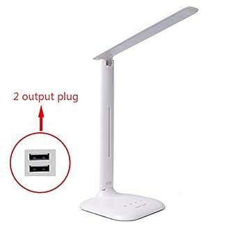 Xcellent Global Lampe de bureau/table LED protégant les yeux tactile bouton caché USB charge luminosité réglable M-LD022