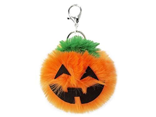 (FOUGNOGKISSS Mode Weichem Plüsch Ball Schlüssel Anhänger Halloween Kürbis Lampe Modellierung Plüsch Anhänger Damen Tasche Auto Ornamente (Wie Gezeigt))