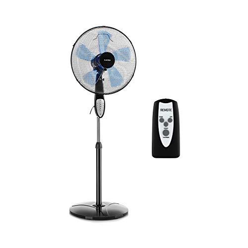 Klarstein Summerjam • Ventilateur Colonne 41 cm • 50W • 69,18 m³/Min • 3 Niveaux Vitesses • Faible Bruit • Oscillation activable sur 80° • 5 ventaux pour Un Courant d'air Plus élevé • Noir