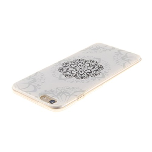 Apple iPhone 6/6S Silicone Coque, Yaking (3 in 1) Silicone TPU Case Cover Gel Étui Housse pour Apple iPhone 6/6S avec 1 X Stylet + 1 X Strass Bouchon Anti-Poussière P-5