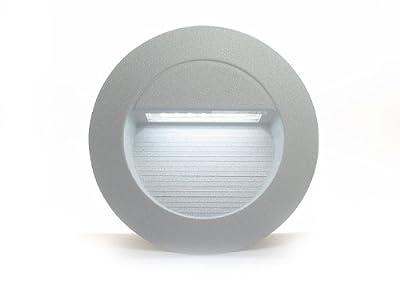 3x Led Wandeinbauleuchte Rayon 1 Rund Ip65 230v 12w Alu Silbergrau Kaltwei Trendlights24 Hausmarke von trendlights24