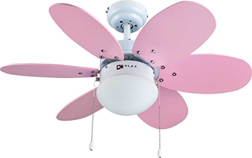 Bastilipo Aguadulce Ventilador de Techo con Luz E27, 60 W, Blanco, 75 x 42.9 cm