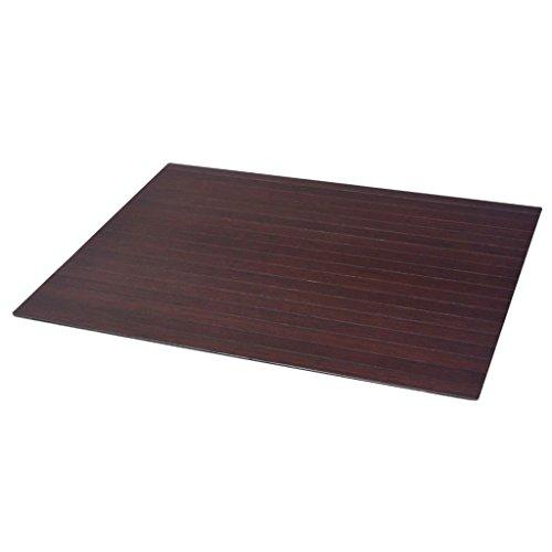 vidaXL Bodenschutzmatte Bürostuhlunterlagen Stuhlmatte Bambus Braun 90 x 120 cm