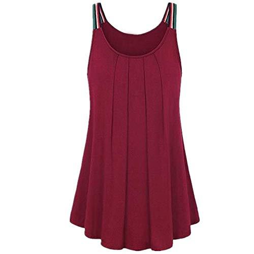 "KIMODO T Shirt Damen Einfarbig Weste Ã""rmellos Bluse Frauen Top Sexy Shirt Sommer Mode Oberteile"