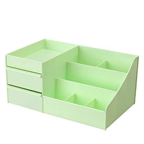 KKY-ENTER Boîte de rangement de type cosmétique de tiroir en plastique de bureau Rouge à lèvres (Couleur : Green)