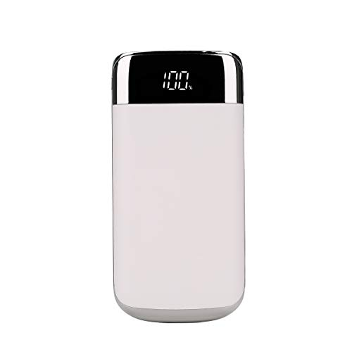 DJym 10000mAh Power Bank Ultra High Capacity Externe Batterie Pack mit LED-Taschenlampe Portable Charger kompatibel mit iPhone, iPad, Samsung und mehr,White