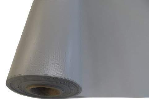 Lona de PVC, impermeable, resistente a los rayos UV, de tela gris, por metro