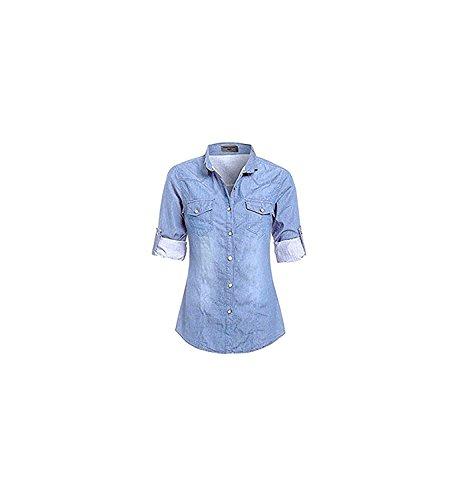 SS7 New Women's Denim Shirt, Plus Sizes 16-24