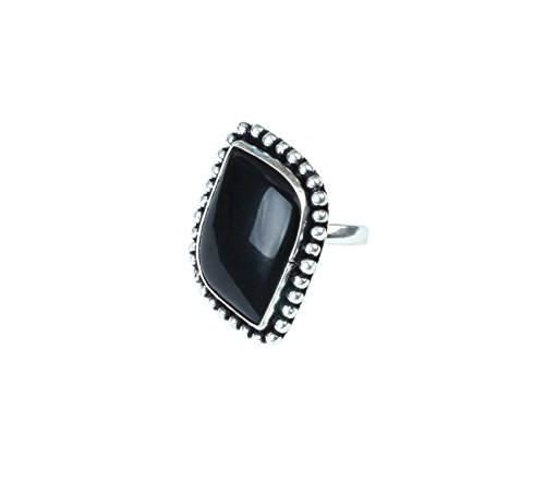 Waama Jewels Traditional & Ethnic Finger Oxidised Fashion Ring Agate Stone for Women & Girls (Adjustable)