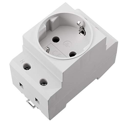 Schuko Steckdose 230V 16A für die Hutschiene Montage Einbausteckdose für Verteiler Schaltschrank -