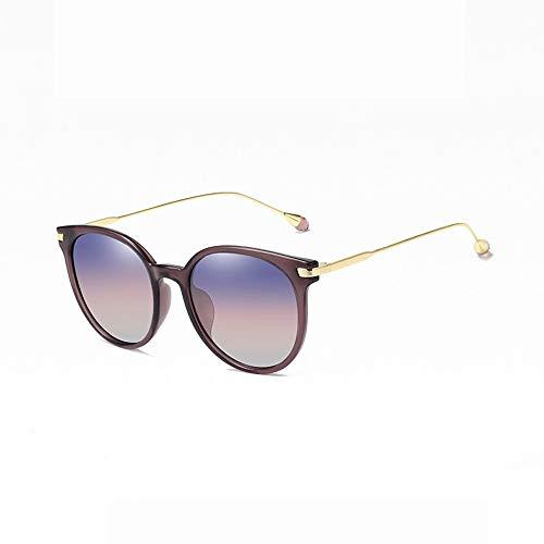 Miaomiaowang occhiali da sole wayfarer occhiali da sole polarizzati per uomo donna aviator metal mirror uv 400 lens tonalità unisex di stile (colore : viola, dimensione : casual size)