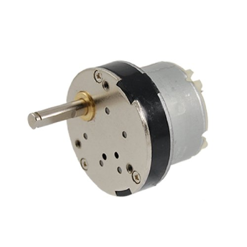 sourcing map DC 12V 50RPM 5mm Welle Hohes Drehmoment Gangschaltung Motor DE de