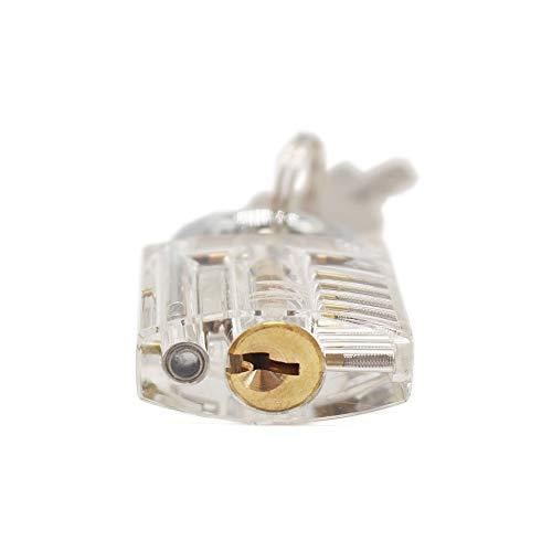 BAWANG Cutaway Innenansicht der Praxis Transparent Lock Training Fähigkeit Pick View Vorhängeschloss für Schlosser mit Smart Keys öffnen Werkzeug