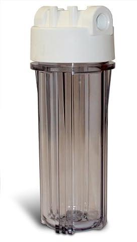 10Standard logement de filtre, clair/blanc, 1/2IN/OUT par Complete Services de filtration