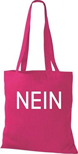 ShirtInStyle Stoffbeutel Baumwolltasche NEIN, Farbe Pink fuchsia