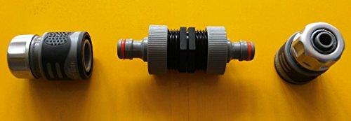 CMTech GmbH Montagetechnik K99 + 2146s Double raccord rapide, raccord de tuyau de jardin IBC Adaptateur Mamelon - Réservoir d'eau de pluie Bidon de Accessoires de conteneurs