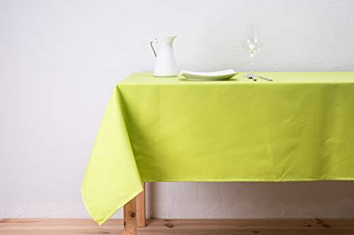 BOHEME Mantel Liso Color Verde Antimanchas 140x140