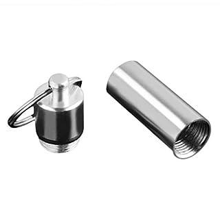 Small Size Schlüsselanhänger Design Reise-Pille-Kasten-wasserdichte Aluminiumlegierung Pille Drug Aufbewahrungsbehälter-Kasten-Halter-Behälter (silber)