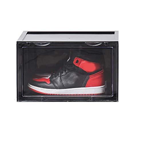Ningb Caja de Zapatos acrílico Sneaker Display Box Zapatero Organizador apilable Plegable Zapatero