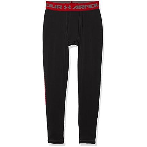 Under Armour Up Leggings Fitness da ragazzo pantaloni & pantaloncini, Ragazzo, Fitness Hose Armour Up Leggings, nero, L