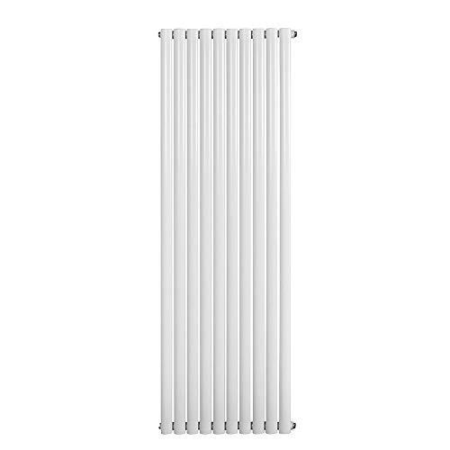 Home Deluxe - Design Heizkörper Ember Weiß - Mittelanschluss - Verschiedene Größen und Farben (Doppellagig, 1800 x 588 mm)
