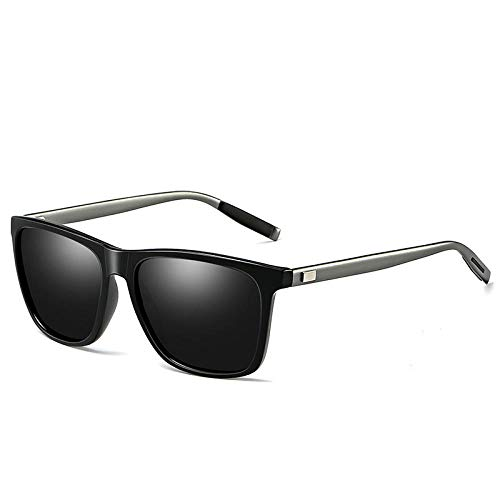 PROMISE-YZ Sonnenbrille Polarisierte sonnenbrille 100% UV 400-Schutz Aluminium-Magnesium helle Sonnenbrille Trend Damen Retro Persönlichkeit Mode wilden Männer Outdoor-Reisen