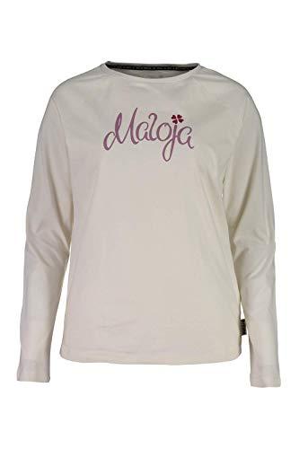 Maloja Damen Sotcham. T-Shirt, Weiß (Vintage White 8179), Small