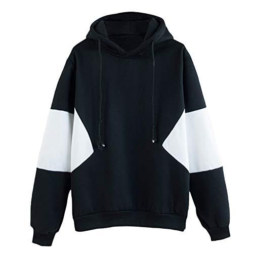 TWIFER Damen 2018 Herbst Pullover Langarm Patchwork Sweatshirt Bluse