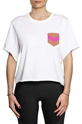 Hurley Damen T-Shirts W Maritime Crop Pocket Crew, White, XS, CN9699 - Pocket Hurley-t-shirt