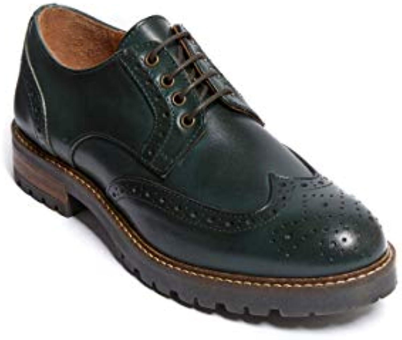 Scarpa Stringata Derby con Decorazione Wing cap di Coloreee verde. Wing cap Derby verde. Donna. | Bello e affascinante  | Maschio/Ragazze Scarpa