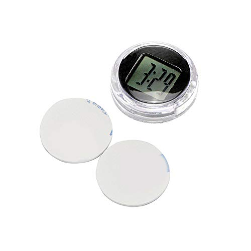 Moto Reloj Moto Reloj Konesky Mini Pocket Universal Stick-On Reloj Moto Digital con Función de Cronómetro IP64 Resistente al Agua (1 PCS) (1)