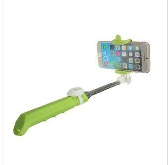 MASUNN Integrato Android Ios Sistema Palmare Selfie Stick Otturatore Bluetooth Estensibile Monopiede Per Telefono-Verde