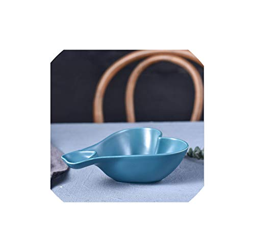 Fruit-Bowls Household Tableware Creative Japanese Ceramic Dish Fries Snack Plate Dipping Sauce Dish Heart Shaped Candy Dishes,3 -