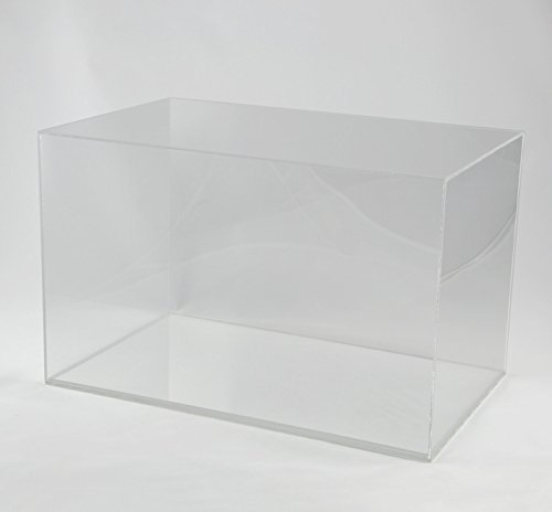 Hansen Vitrine Acryl/Schaukasten/Objektvitrine/Showcase rechteckig, 200x320x200 mm, mit transparentem Boden