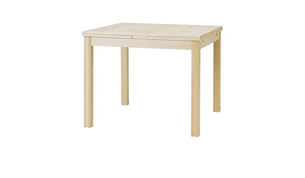 Ikea Bjursta Extending Table In Birch Veneer 90 129 168x90 Cm Amazon De Kuche Haushalt