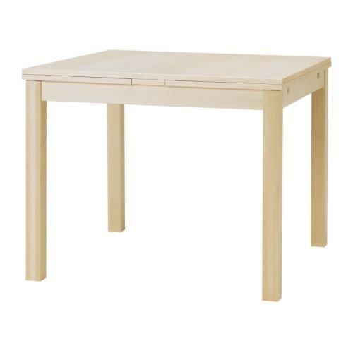 IKEA bJURSTA table à rallonge en bouleau, 90/129/168 x 90 cm)