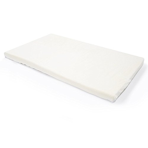 Milliard - Babybett/Kinderbett Matratzenauflage Junior Kleinkind Matratze Topper mit 5 cm dickem Memory-Schaumstoff Belüftet - mit abnehmbarem, wasserdichtem Bezug - 120 x 60cm -