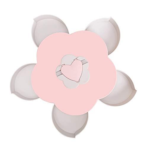 OPSLEA Candy Dish Bloom rotierende Snack Box Flower Design Süßigkeiten Lebensmittel Aufbewahrungsbox Organizer -