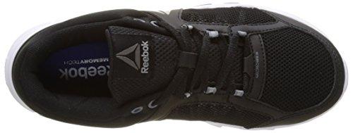 Reebok Yourflex Trainette 9.0 Mt, Scarpe Indoor Multisport Donna Nero (Black/white/asteroid Dust/silver Met/grey)