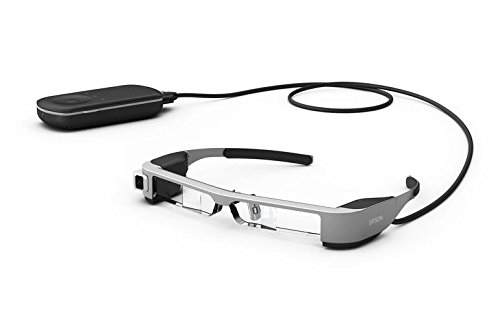 Epson Moverio BT-300 Augmented Reality Glasses with an OLED Display – Black/Transparent