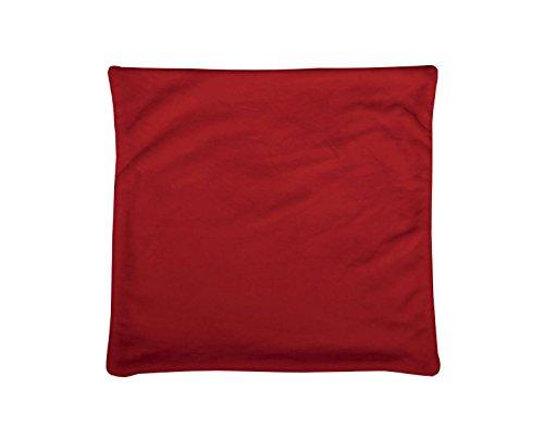 LOVELY CASA C65792003H Doudou Housse de Coussin Polyester Rouge 60 x 60 cm
